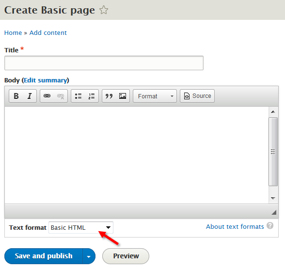 Create basic page